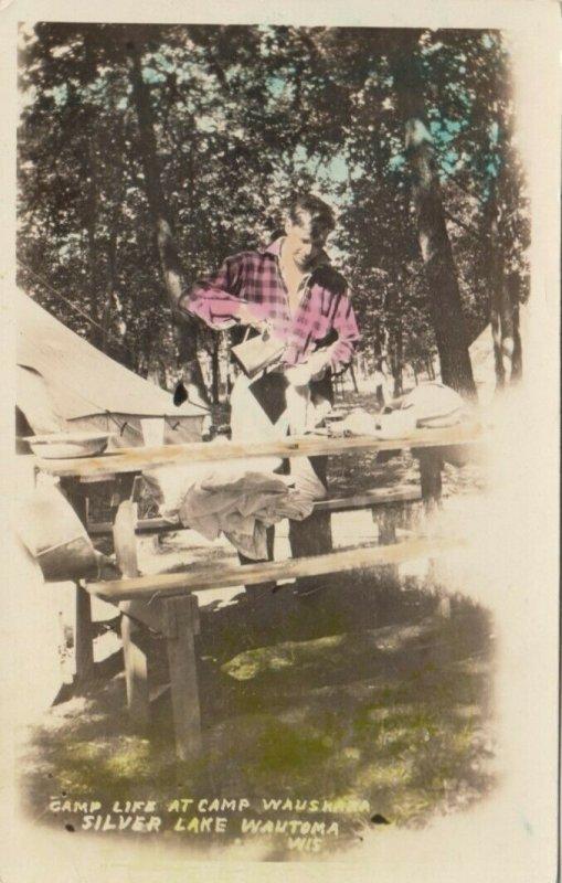 RP: WAUTOMA , Wisconsin , 10-20s; Camp Life at Camp Waushara, Silver Lake