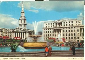 United Kingdom, London, Trafalgar Square Fountains