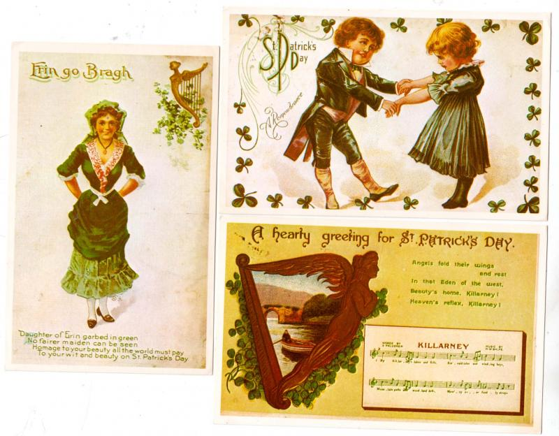 3 - St Patrick's Day Cards - Reproductions