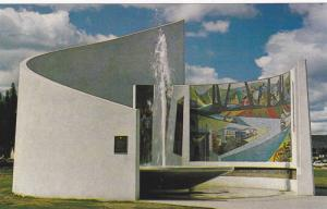 Mosaic at the Centennial Fountain Built in 1967, Prince George, British Colum...