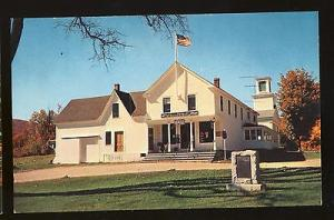 Plymouth, Vermont/VT Postcard, Store & Post Office, Calvin Coolidge Birthplace