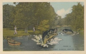APSLEY , Ontario , Canada , 1930s ; Fishing Exaggeration #2