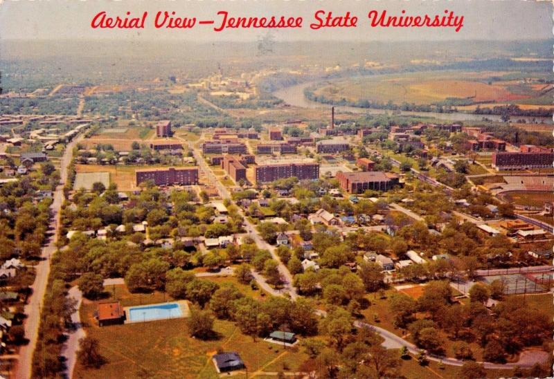 NASHVILLE TN~TENNESSE STATE UNIVERSITY AERIAL VIEW-POSTCARD
