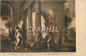Old Postcard Chantilly Museum Condee (300) Theseus finds the Sword of his fat...