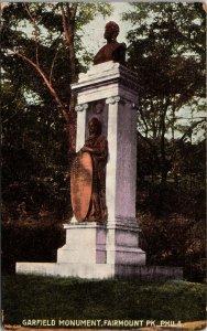 Political President postcard James Garfield Monument Fairmount Park Philadelphia