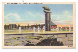 The Rocks Fort Christiana Park Wilmington DE Curteich Linen