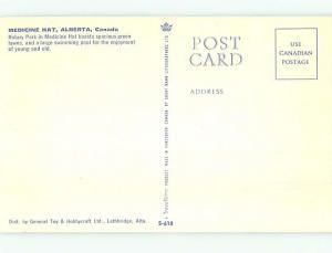 Pre-1980 SWIMMING POOL SCENE Medicine Hat Alberta AB AF2370