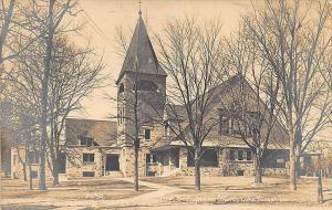 Lake Forest IL First Presbyterian Church in 1910 RPPC Postcard