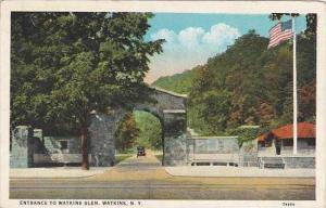 New York Watkins Entrance To Watkins Glen