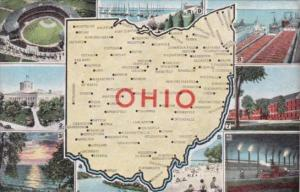 Map Of Ohio With Multi Views