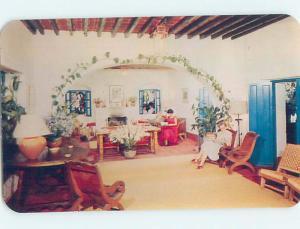 Unused Pre-1980 RANCHO TELVA HOTEL LOBBY Taxco - Guerrero Mexico F6228@