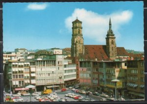 Post Card Stuttgart Germany  Marktplatz & Stiftskirche