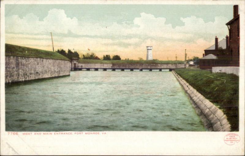 Fort Monroe Old Point Comfort VA c1905 Detroit Publishing Postcard #2