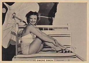 B A T Vintage Cigarette Card Grace & Beauty No 16 Simone Simon  1938