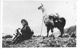 Peru Llama, Native Man