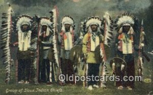 Sioux Indian Chiefs Indian 1911