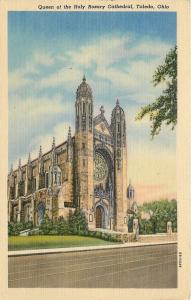 Toledo Ohio~Queen of the Holy Rosary Cathedral~Stained Glass Windows 1940 Linen