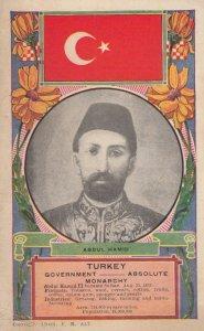 TURKEY , 1909 ; Abdul Hamid