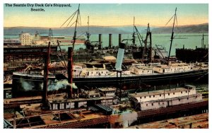 Washington Seattle  Dry dock Co's Shipyard