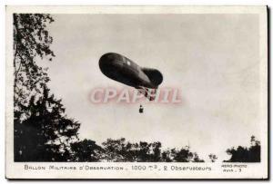 Old Postcard Jet Aviation Military Ballon d & # 39observation