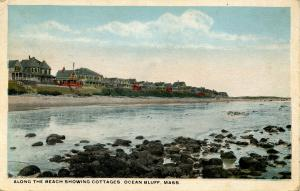 MA - Ocean Bluff. Beach Scene and Cottages