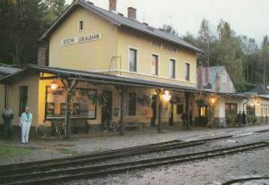 Steyr Lokalbahnhof Austria Train Station Postcard