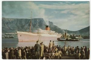 South Africa; Mail Ship Leaves Cape Town PPC, Unposted, c 1950's