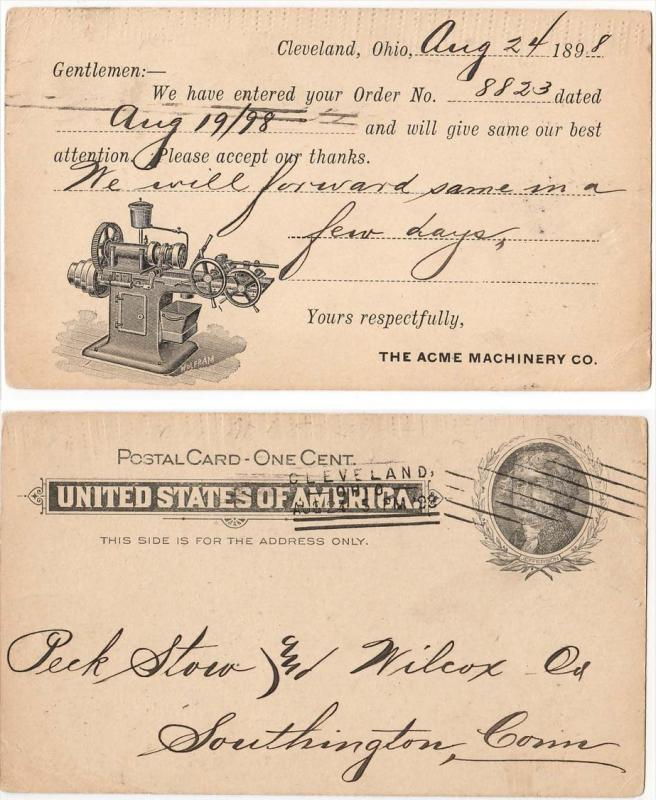 1898 - Acme Machinery Co. Cleveland OH