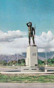 MARACAY, Venezuela, PU-1942; Avda. 2 De Diciembre Con Monumento Del Cacique M...