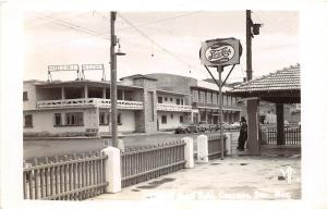 D79/ Guaymas Mexico Foreign Real Photo RPPC Postcard c50s Pepsi Sign Hotel Ruh