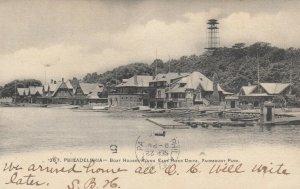 PHILADELPHIA, Pennsylvania,1905; Boat Houses along East River Dr. Fairmount Park