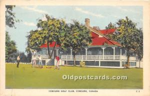 Old Vintage Golf Postcard Post Card Cobourg Golf Club Cobourg, Canada Unused