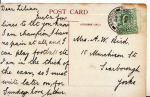 Genealogy Postcard - Bird - 15 Munchison Street - Scarborough, Yorks - Ref 4720A