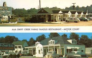 Petersburg Virginia Swift Creek Motel Multiview Vintage Postcard K28131