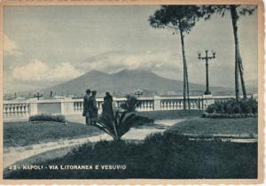 NAPOLI, Campania, Italy, 1930-1940´s; Via Litorenea E Vesuvio