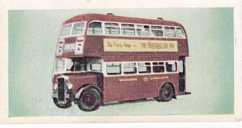 Trade Cards Beano Bubble Gum THIS AGE OF SPEED No 2 Buses and Trams No 45
