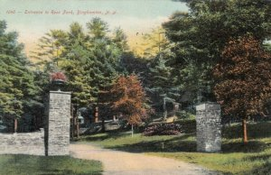 BINGHAMTON, New York, PU-1910; Entrance to Ross Park