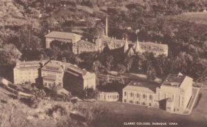Aerial View of Clarke College Campus, Dubuque, Iowa 1937