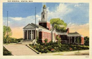 MA - Newton. War Memorial Building