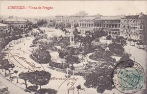 ZARAGOZA (Aragon), Spain, 1900-1910s; Plaza De Aragon