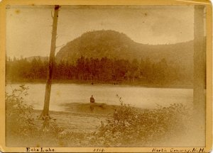 NH - North Conway, 1889. Echo Lake (5 X 7)