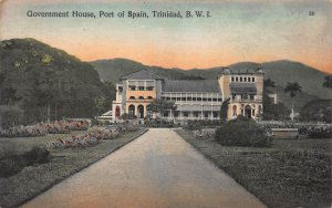 Government House, Port of Spain, Trinidad, Early Hand Colored Postcard, Unused