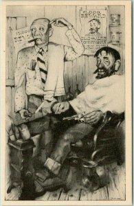 1946 KNOTT'S BERRY PLACE (Farm) California Postcard Barber Shop Artist Klieben