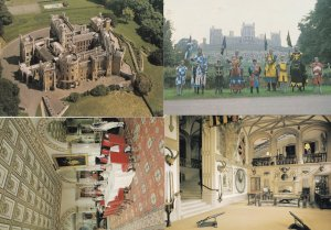 Belvoir Castle Nottingham Guardroom Jousting Interior Views 4x Postcard s