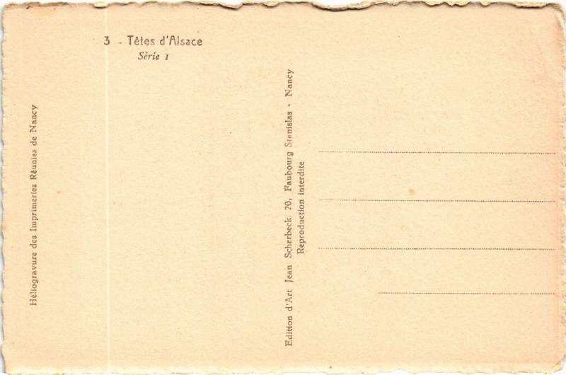 CPA Tétes d'Alsace FRANCE FOLKLORE (789478)
