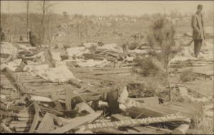 Hurricane or Tornado Damage - Boman Lane Wreckage WHERE? RPPC c1910