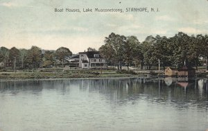 STANHOPE, New Jersey, 1900-1910s; Boat Houses, Lake Musconetcong