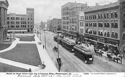 Bloomington Illinois~Main Street North (from Livingston B...