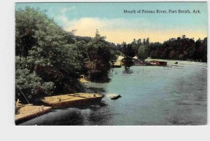 PPC POSTCARD ARKANSAS FORT SMITH MOUTH OF POTEAU RIVER PRETTY NICE CARD