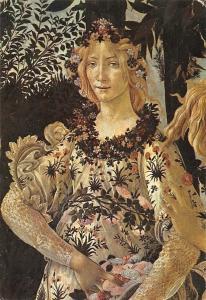 Firenze Galleria Uffizi Sandro Battticelli, The Spring (Detail)